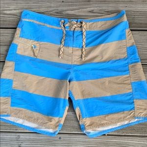 Patagonia Striped Board Shorts. Size 33